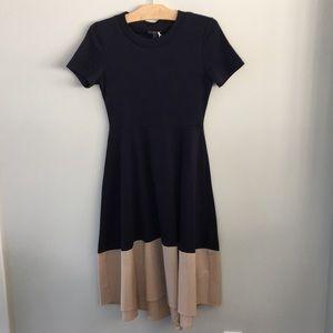 NWT Cos Navy Blue/tan Dress